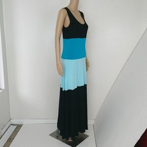 Calvin Klein Color Block Maxi Dress Size 8